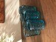 Bougeoirs bleus pour décoration de table de mariage - Occasion du Mariage