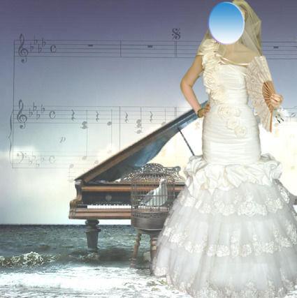 Robe de mariée sirène d'exception en dentelle et taffetas couleur ivoire