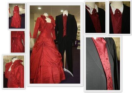 Robe de mariée rouge neuve