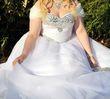 belle robe mariée princesse blanche avec cristaux - Occasion du Mariage