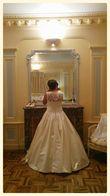 Robe de mariée Pronovias Laudin en satin royal. Taille 42. - Occasion du Mariage
