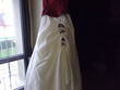 Robe de mariée d'occasion ivoire et bordeaux de chez point mariage