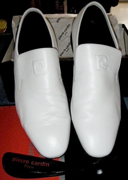 Chaussures de marié blache d'occasion en Cuir Pierre Cardin