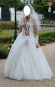 Robe de mariée Pia Benelli et accessoires pas cher - Occasion du mariage