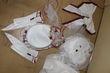 Robe de mariée bordeaux et crème - Occasion du Mariage