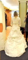 Robe de mariée Cymbeline modèle Dali + boléro modèle Tourbillon