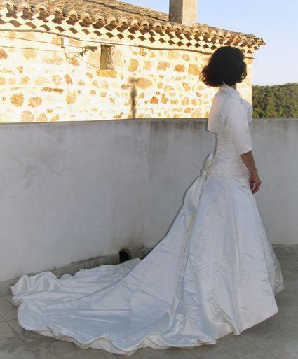Robe bustier ivoire forme princesse - Ardéche