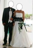 robe de mariée ivoire et noire Belle modèle Allégorie - Occasion du Mariage