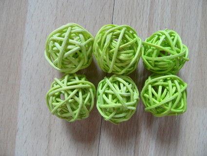 Boules de rotin vert anis - Occasion du Mariage