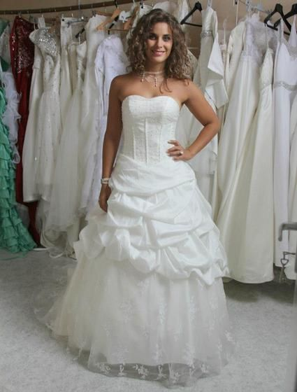 robe de mari e ivoire petit prix taille ajustable 36 42