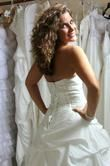 Robe de mariée ivoire petit prix taille ajustable 36/ 42