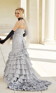 Robe de mariée gris perle - Occasion du Mariage