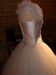 Robe de mariée Pronuptia romantique pas cher en tulle avec crinoline