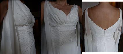 Robe de mariée longue et fluide d'occasion - Doubs