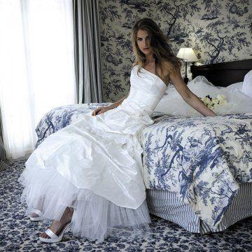 Robe de Mariée d'occasion Cymbeline modèle Floria couleur ivoire + jupon