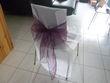 lot ruban de chaise et tissu satin - Occasion du Mariage