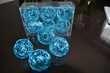 Lot de boules métal bleu turquoise diam. 6cm - Occasion du Mariage