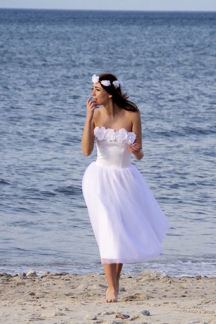 Robe de mariée courte en tulle Maria création Alisa - Alpes Maritimes