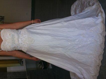 Robe de mariée Miss Kelly d'occasion avec traîne