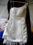 Robe de mariée bustier courte couleur ivoire d'occasion