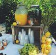 Fontaine à cocktail en verre mariage - Morbihan