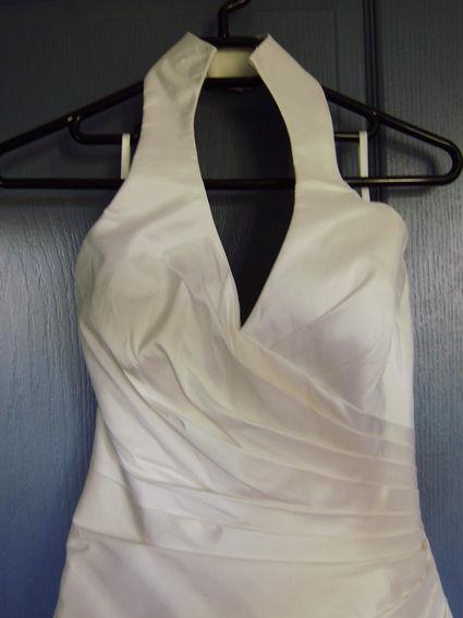 Robe de mariée de créateur en soie naturelle + jupon pas cher