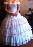 Robe de bal style princesse sissi blanche et rose - Occasion du Mariage
