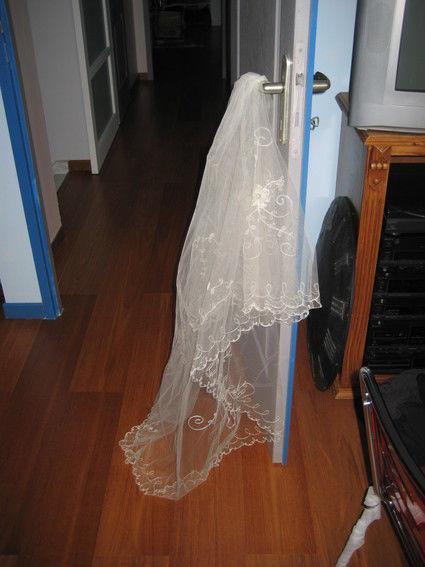 Voile de mariée long de chez Elsa Gary d'occasion