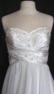 robe empire brodée - satin et voile - Occasion du Mariage
