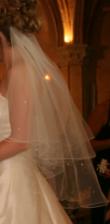 Voile de mariage ivoire avec strass - Occasion du Mariage
