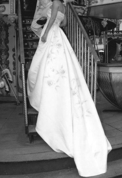 Robe de mariée bustier St Patrick T38 avec longue traîne