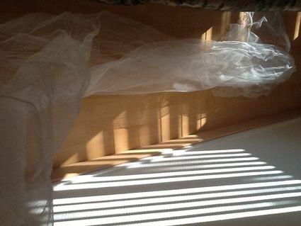 Long voile de 3 mètres de mariée d'occasion avec peigne couleur ivoire