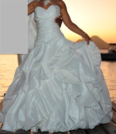 Magnifique robe de mariée d'occasion taille 36 - Martinique