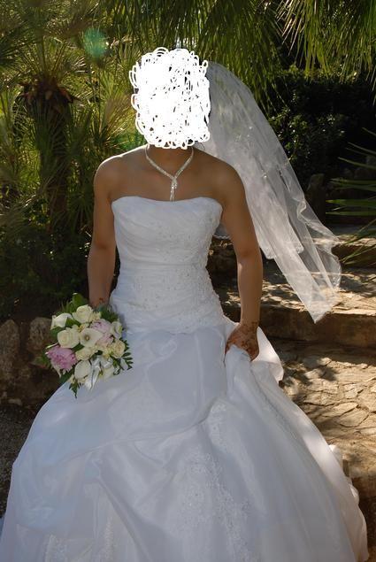 Jolie Robe de Mariée marque Complicité avec boléro et voile pas cher en 2013
