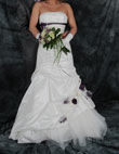 Robe de mariée pas cher bustier et jupe, en taffetas de soie ivoire 2012 - Occasion du Mariage