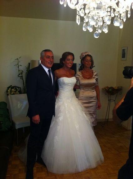 Robe de mariée de princesse de marque Pronovias T38