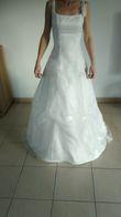Robe de mariée blanche organza - Occasion du Mariage