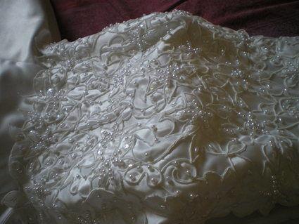 Robe de mariée en satin marque Point Mariage d'occasion