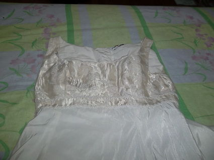Robe de mariée Point Mariage avec jupon, étole, gants et chaussures d'occasion