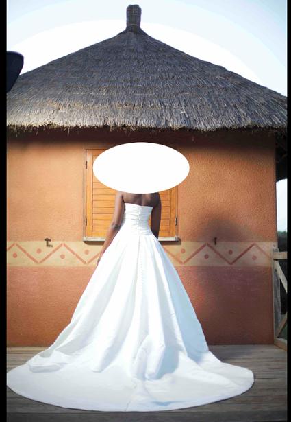 Robe de mariée Pronovias Georgia T38 d'occasion avec bustier