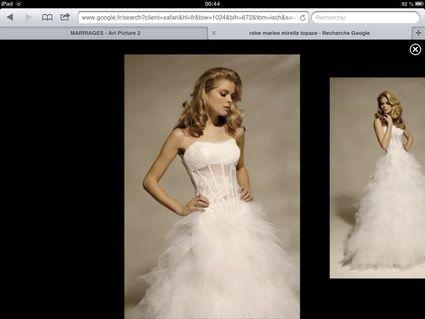Robe de mariée Mirella modèle Topaze de la créatrice Mirella