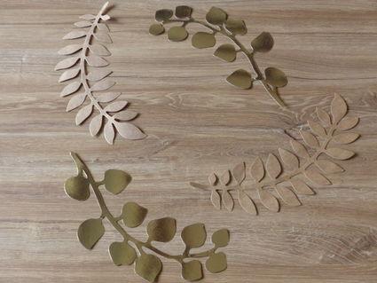 Lot de feuilles or et kraft - Essonne