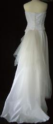 Robe de mariée d'occasion longue avec bustier pas cher en taffetas - Occasion du Mariage