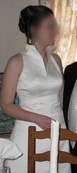 Robe de mariée en satin ivoire d'occasion