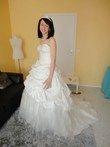 Robe de mariée pas cher ivoire en taffetas et dentelle 2012 - Occasion du mariage
