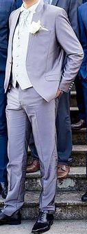 Costume du marié gris  - Val d'oise