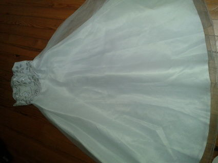 Robe de mariée bustier d'occasion avec jupon pas cher en 2013
