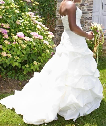 Robe de mariée bustier d'occasion Bombay Eglantine Créations