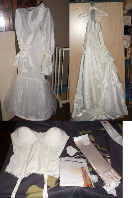 robe de mariée + accessoires pas cher d'occasion 2012 - Lorraine - Meurthe et Moselle - Occasion du Mariage