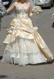 Robe de marié ivoire or et strasses - Occasion du Mariage